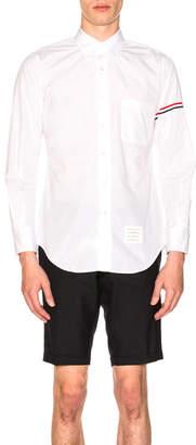 Thom Browne Classic Hairline Stripe Shirt