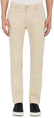 Barneys New York MEN'S STRETCH-COTTON TWILL TROUSERS