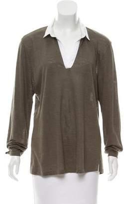Amina Rubinacci Long Sleeve Linen Top