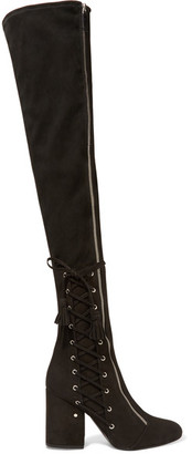 Laurence Dacade - Maren Stretch-suede Over-the-knee Boots - Black $1,695 thestylecure.com