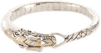 John Hardy 'Legends Naga' silver yellow gold small bracelet
