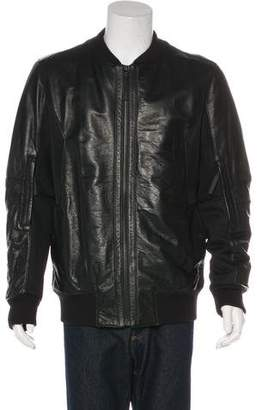 Helmut Lang Mesh-Accented Leather Jacket