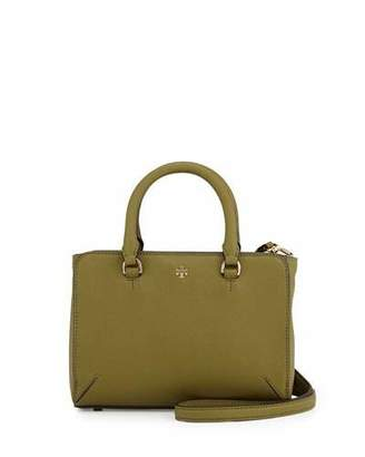 Tory Burch Robinson Micro Zip-Top Tote Bag, Olive $262 thestylecure.com