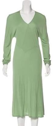 Calvin Klein Collection V-Neck Midi Dress