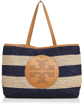 Tory Burch Perforated Logo Straw Tote $350 thestylecure.com