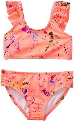 Crazy 8 Crazy8 Neon Splatter Bikini