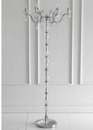 Crystal Floor Chandelier - Clear