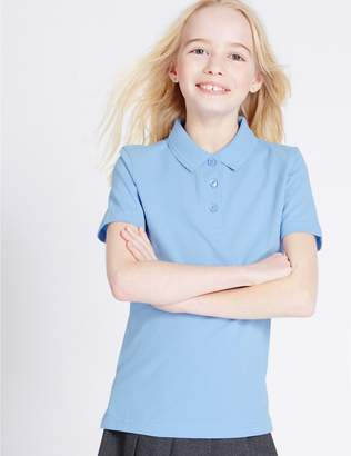 Marks and Spencer 2 Pack Girls' Slim Fit Polo Shirts