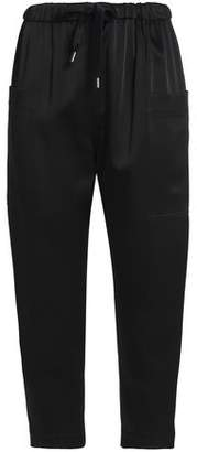 Brunello Cucinelli Cropped Satin Tapered Pants