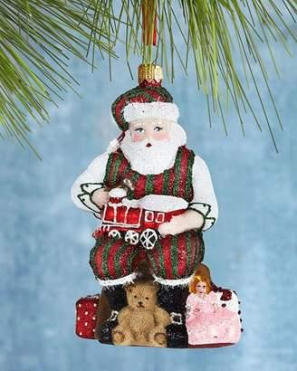 Mattarusky Ornaments Santa Working His Magic Glittered Christmas Ornament