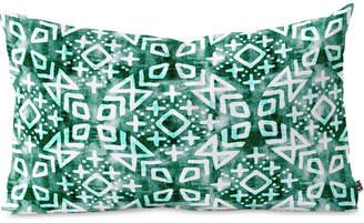 Deny Designs Little Arrow Design Co Modern Moroccan In Emerald Oblong Throw Pillow
