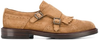 Brunello Cucinelli brogue detail Monk shoes