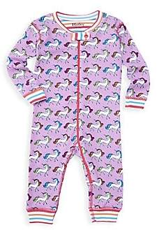 Hatley Baby Girl's Rainbow Unicorns One-Piece Pajamas