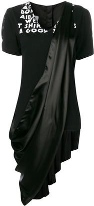 MM6 MAISON MARGIELA drape dress T-shirt