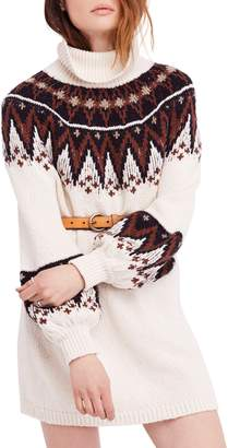 Free People Scotland Turtleneck Sweater Minidress