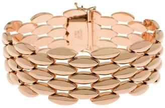 "Bronze 7-1/4"" Polished Panther Link Bracelet byBronzo Italia"