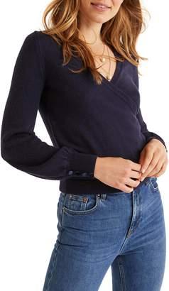 Boden Maddie Button Cuff Surplice Sweater
