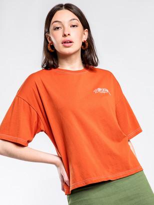 Stussy Melrose Oversized T-Shirt in Rust