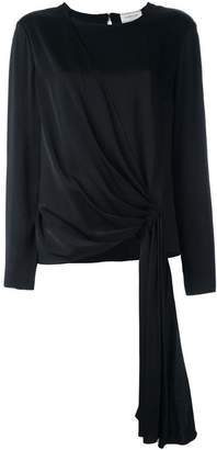 Lanvin gathered front blouse