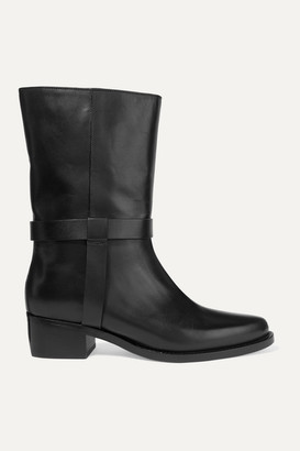 LEGRES - 05 Leather Ankle Boots - Black
