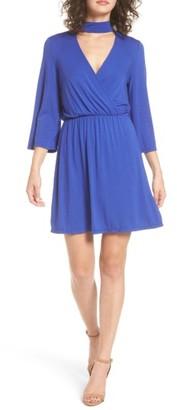 Women's Everly Surplice Choker Dress $45 thestylecure.com