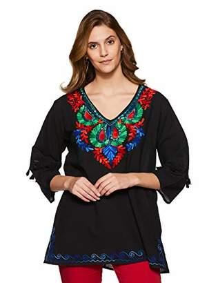 Wild Hazel Women's Cotton Embroidery Tassel Stylish Tops | Tunic | Blouse