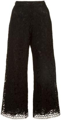 ADAM by Adam Lippes corded lace cropped trousers