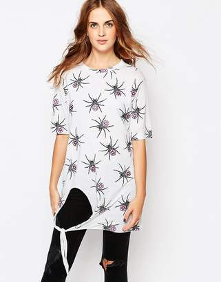 Worn By Halloween Spider Oversized Top