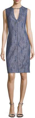 Elie Tahari Pacey V-Neck Sleeveless Dress