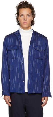 Blue Blue Japan Indigo Bassen Open Collar Shirt