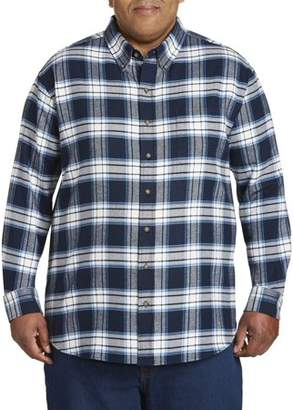 Canyon Ridge Men's Big And Tall Long Sleeve Flannel Shirt, Up To 7Xl