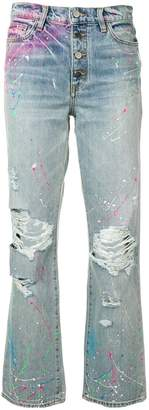Amiri paint print boyfriend jeans