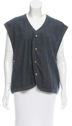 Saint Laurent V-neck Button-Up Vest