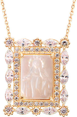 Mother of Pearl Gabi Rielle 22K Over Silver Mother-Of-Pearl & Cz Necklace