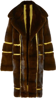 Pologeorgis Victoria Paneled Fur Coat