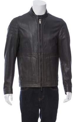 HUGO BOSS Boss by Leather Racer Jacket