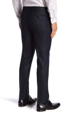 "John Varvatos Bedford Black & Blue Trousers - 30-34\"" Inseam"