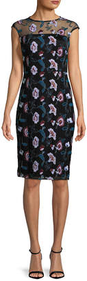 Donna Ricco Floral Embroidered Sheath Dress