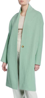 Vince Collarless Long Wool Coat