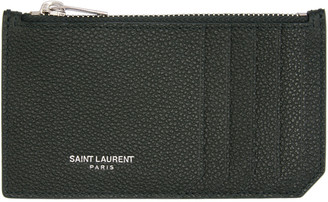 Saint Laurent Green Fragments Card Holder $295 thestylecure.com