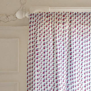 Bright Radishes Curtains
