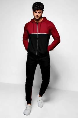 boohoo Skinny Fit MAN Cut & Sew Tracksuit