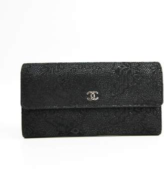 Chanel Black Suede CC Long Wallet (SHA21469)