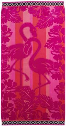 Celebrate Summer Together Flamingo Turkish Cotton Beach Towel
