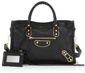 Balenciaga Small City Leather Satchel