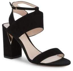 Nicholas Kirkwood Eva Strappy Suede Block Heel Sandals