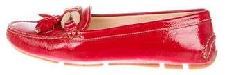 Prada Patent Leather Round-Toe Loafers