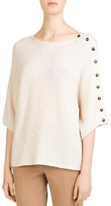 Gerard Darel Cayla Waffle-Knit Dolman-Sleeve Sweater