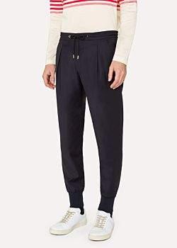 Paul Smith Men's Navy Wool Casual Trouser