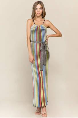 Athena Multi-Colored Striped Dress